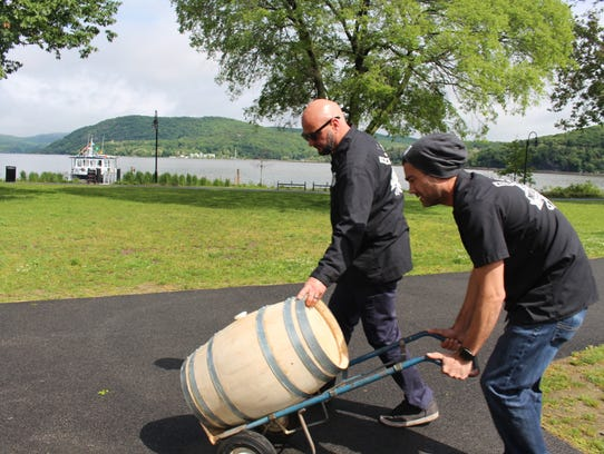 Larry Stock and Jamie Bishop, brewmasters at Mill House