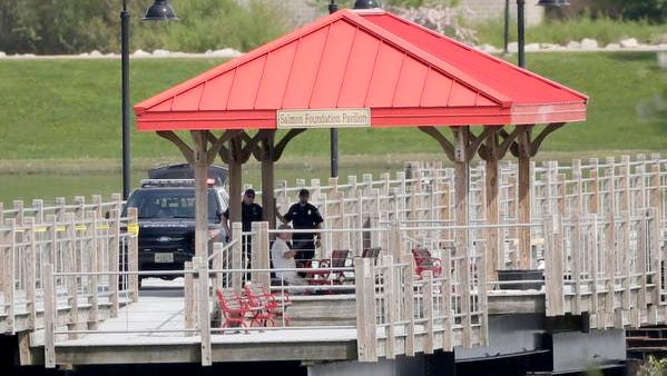 The Fox Cities Trestle Trail bridge across Little Lake Butte des Morts was the site of a police shooting death Wednesday.