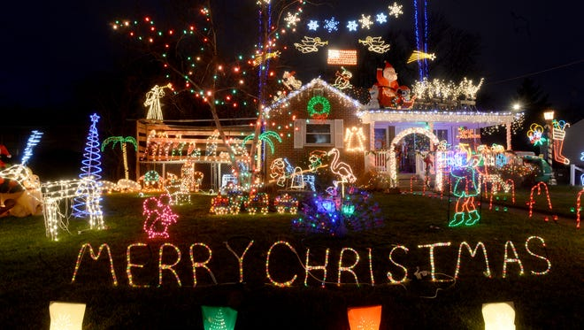 The ginormous Christmas light display at 218 S. 18th Street S. G St. in Richmond.