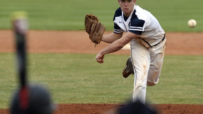 Reitz pitcher Elijah Dunham delivers a pitch last season in a game against Harrison at Bosse Field.