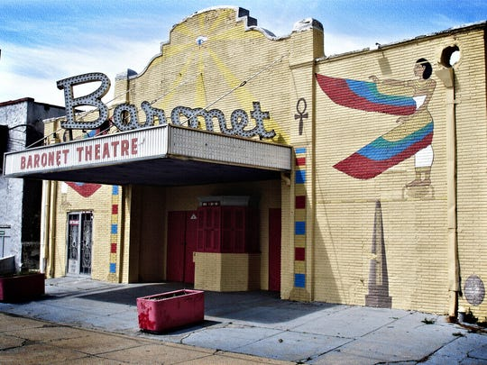 The Baronet Theatre before it was demolished.