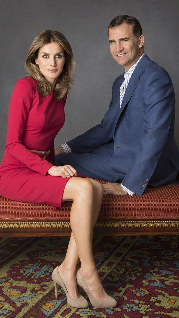 Princess Letizia and Crown Prince Felipe
