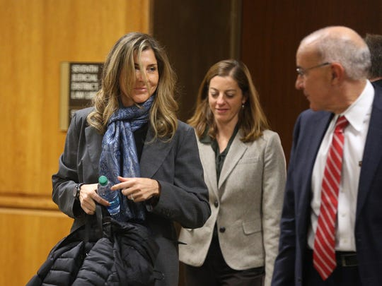 Monica Seles (left), wife of Tom Golisano, is a witness in the civil case regarding the decorating of a yacht owned by Golisano.