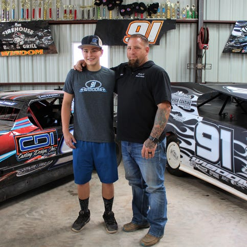 Father shares racing Wisdom with son on Abilene dirt track