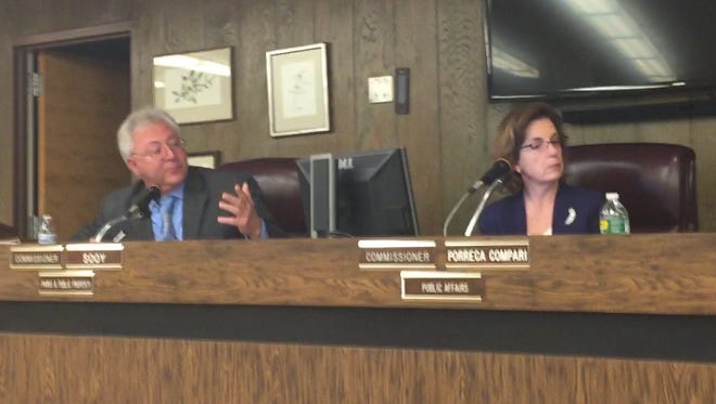 City Commissioner Joseph Sooy makes a point Tuesday on what the governing body should do about a legal problem with how a Dec. 30, 2015 meeting was scheduled.
