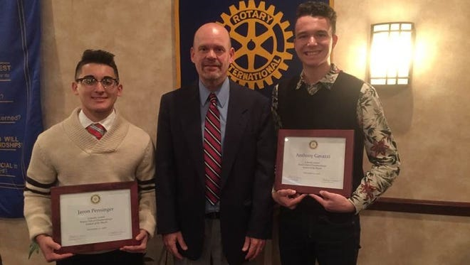 """Chambersburg Rotary has recognized Anthony Gavazzi and Jaron Pensinger as """"Students of the Month"""" for the November"""