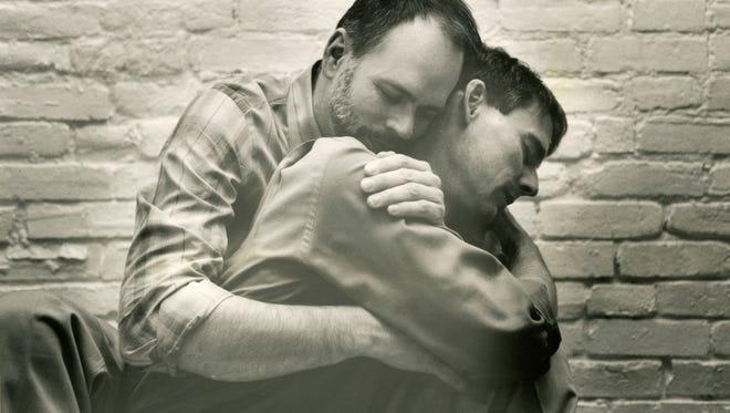 Mark Wright (left) and Michael Hendren in 1988.