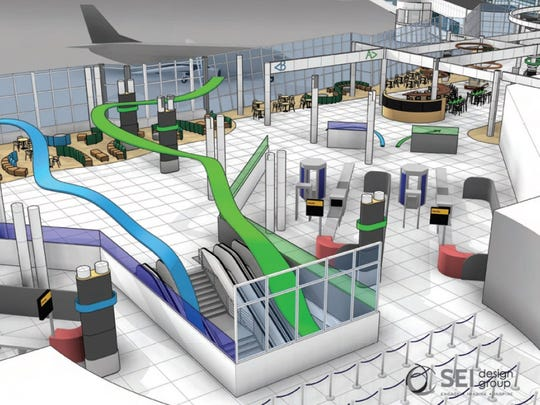 A rendering of proposed upgrades to Greater Rochester International Airport.