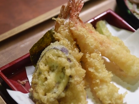 Hannosuke tempura at Mitsuwa in Edgewater.