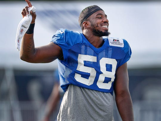 Indianapolis Colts defensive end Tarell Basham (58)