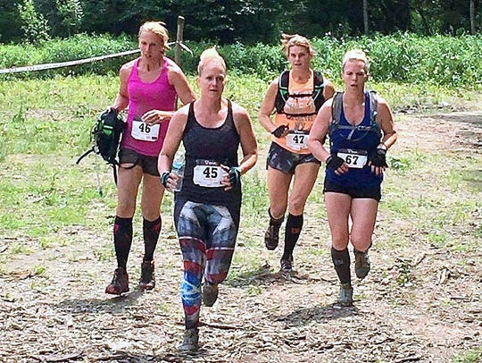 "Runners take part in the ""Dirty In Your Shirty"" charity"