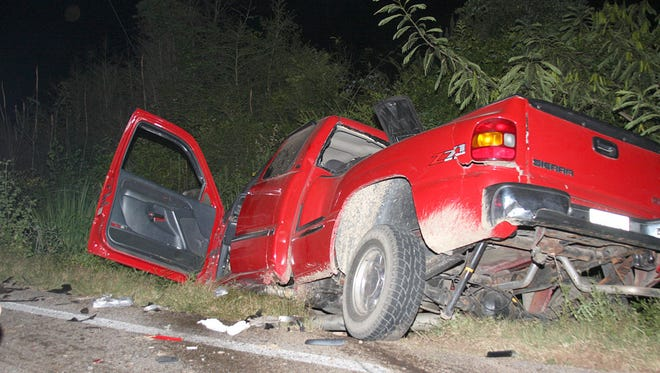 A head-on collision in Jones County between an 18-wheeler and a GMC pickup sent both drivers to the hospital Friday night.
