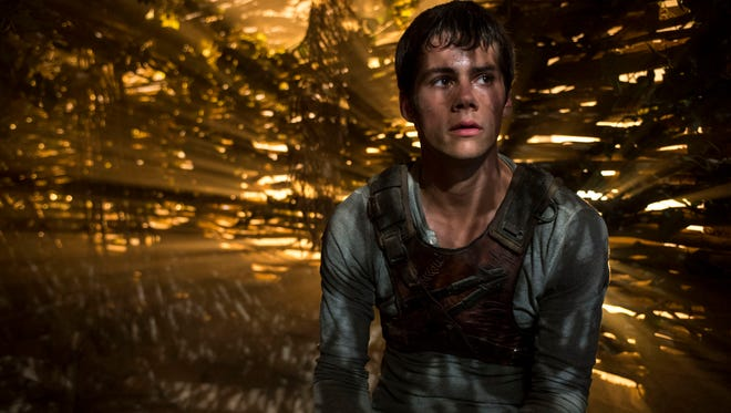 """Dylan O'Brien as Thomas in the film """"The Maze Runner."""""""