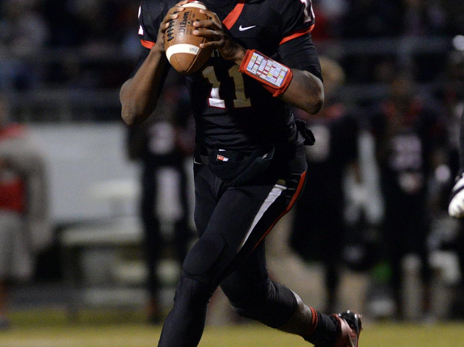Douglas Collier/The Times Parkway quarterback Keondre Wudtee drops back to pass during the Panthers Class 5A second round playoff game against Acadiana. Parkway quarterback Keondre Wudtee drops back to pass during the Panthers Class 5A second round playoff game against Acadiana.