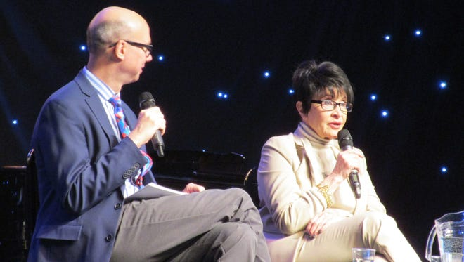 Chita Rivera speaks with Richard Ridge during BroadwayCon 2017.