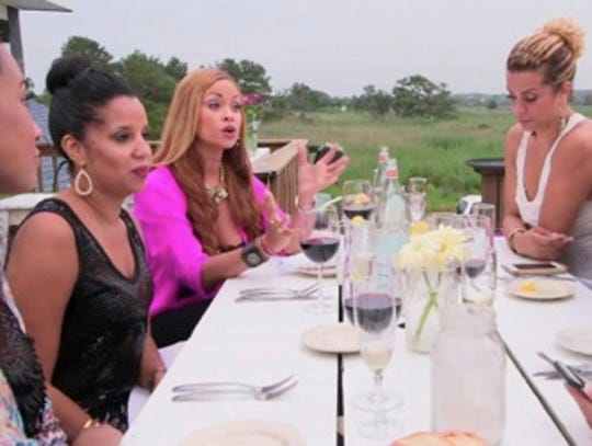 """The Real Housewives of Potomac"" eat dinner at Bluecoast Seafood Kitchen in North Bethany Beach."