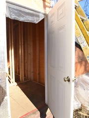 A view of the inside of the Hopewell Depot signal tower restoration project in Hopewell Junction. This will be the first building along the William R. Steinhaus Dutchess Rail Trail to have restrooms with flushing toilets accessible to the public.