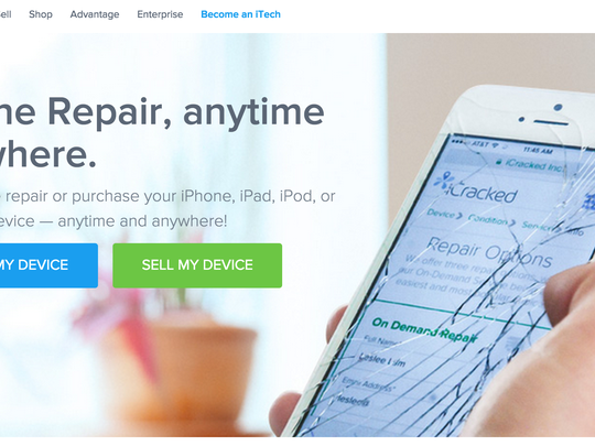 iCracked.com promises to come to you to fix your broken