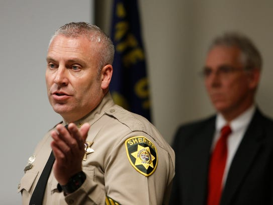 Deschutes County Sheriff Shane Nelson answers questions