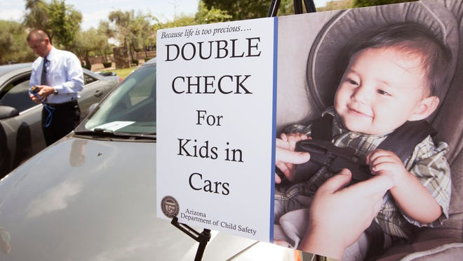 Two weeks ago, a Phoenix tot died after he was left in a car for hours on a day when the temp- erature hit 93 degrees. DCS is spreading awareness in the hope of preventing more deaths.