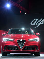The all new Alfa Romeo Stelvio SUV is unveiled on the