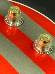 Sniper bullets were used for the volume knobs on the