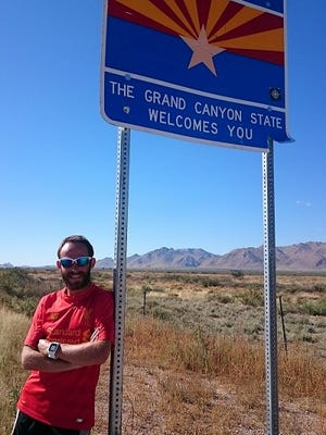 "Rob Pope was inspired by the movie ""Forrest Gump"" to run across the United States."