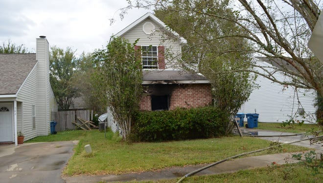 A Wednesday afternoon house fire destroyed all of a family's possessions.