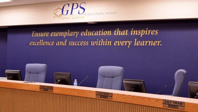 The Gilbert Public Schools board room.