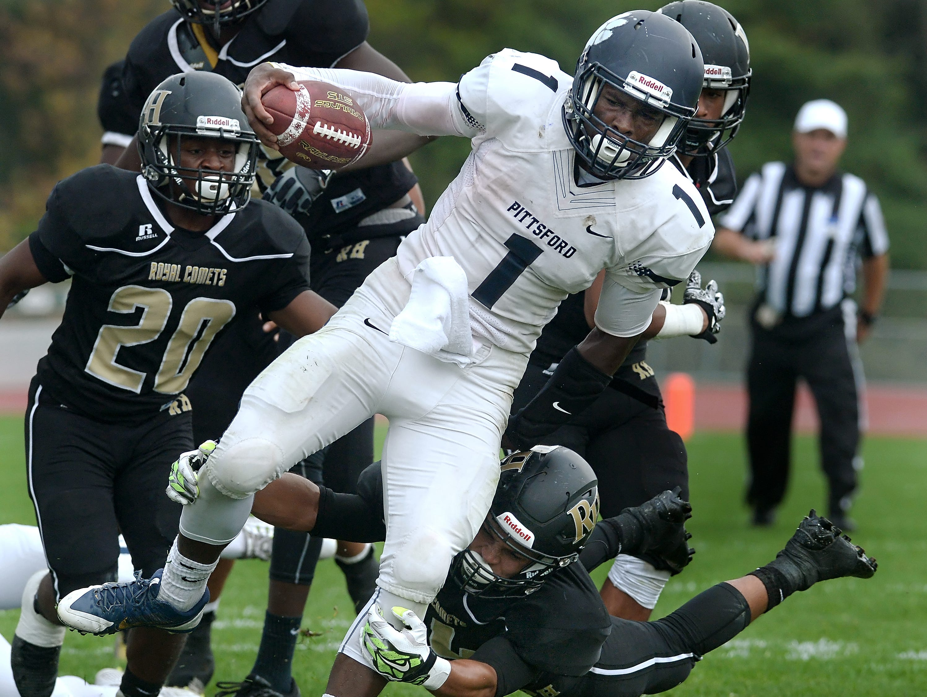 Pittsford's Josh Mack, front, was one of the 2014 Democrat and Chronicle All-Greater Rochester running backs.