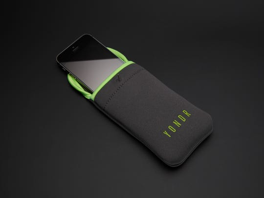 The Yondr phone pouches, which lock and create phone-free