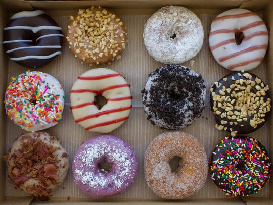 At Duck Donuts, doughnuts are fried to order and topped
