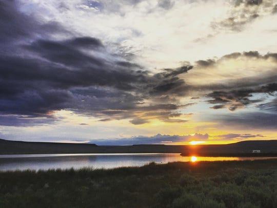 Sunrise at Catnip Reservoir on the Sheldon National Wildlife Refuge as seen June 10, 2015.