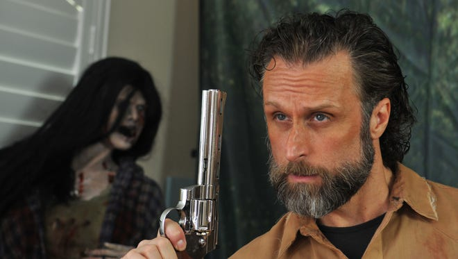 "West Melbourne's Cecil Garner, AKA Cecil Grimes, has become a full time professional cosplayer who specializes in portraying a zombie fighting character due to his resemblance to the character of Rick Grimes, played by actor Andrew Lincoln on the AMC series ""The Walking Dead""."