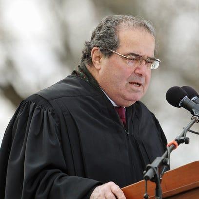 Antonin Scalia speaks in Gettysburg, Pa., in 2013.