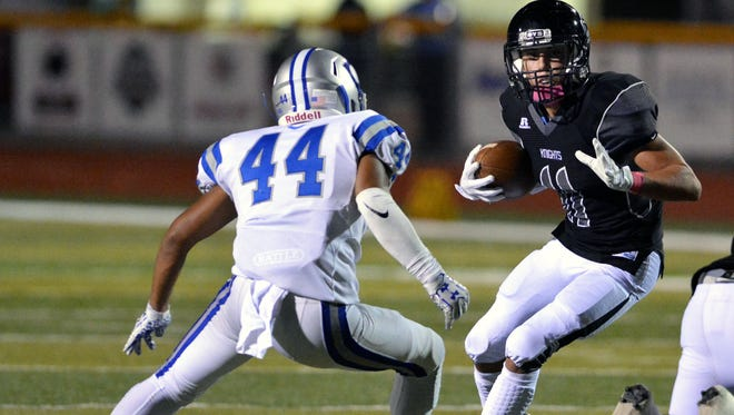 Jayden Diaz and the Oñate Knights face Centennial Thursday night at Aggie Memorial Stadium.