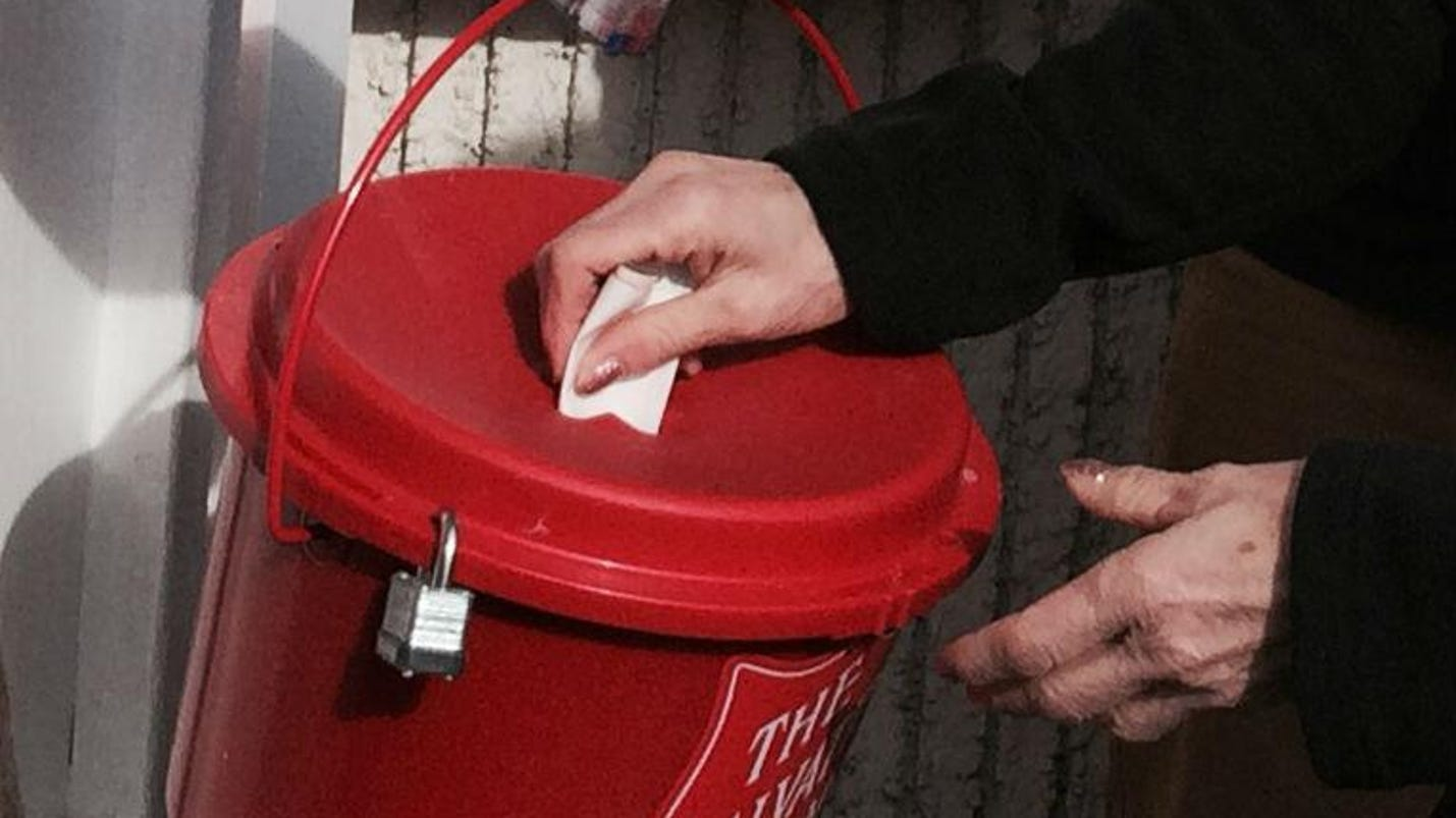 salvation army sets up red kettles around city