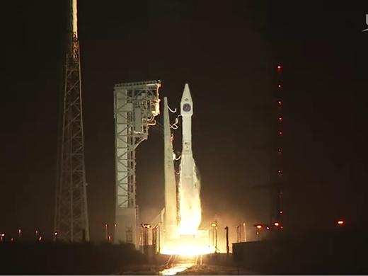 Atlas V rocket of the United Launch Alliance explodes