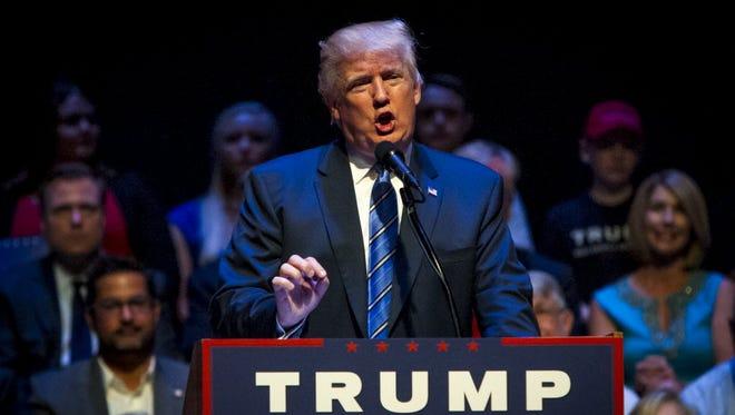 Donald Trump in Portland, Maine, Aug. 4, 2016.