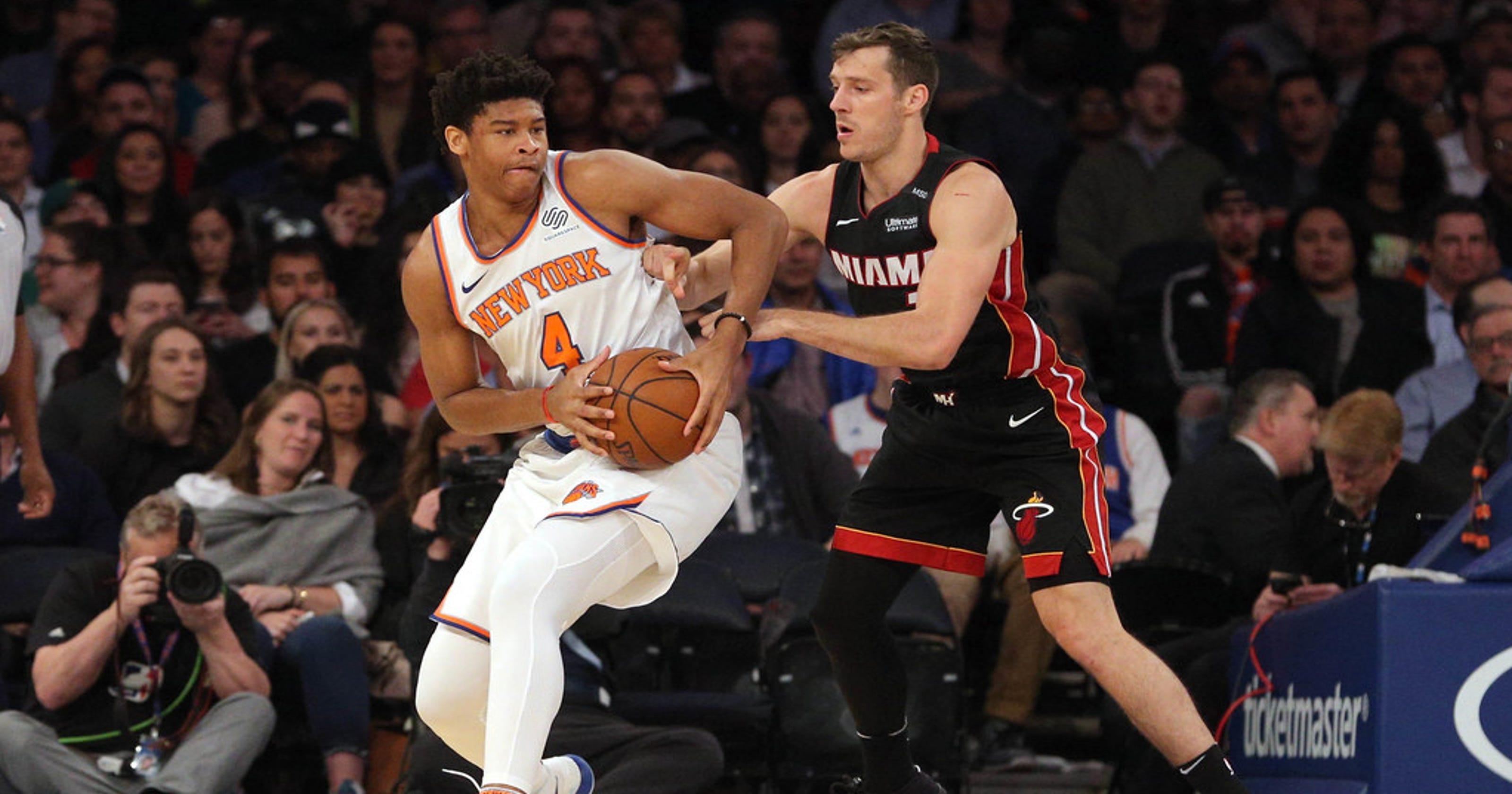 big sale fcc64 425a7 Michael Beasley, Tim Hardaway Jr. suffer injuries in Knicks' win
