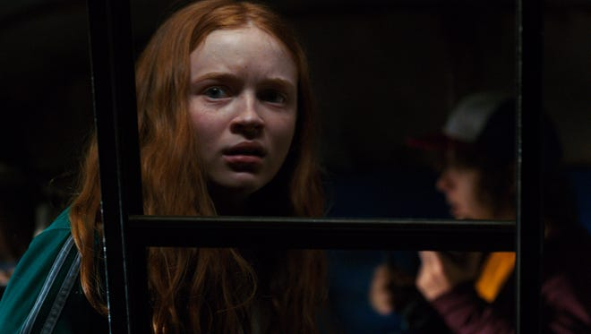 New girl in town Max (Sadie Sink) is dubious of the Demogorgon and Upside Down in Netflix's 'Stranger Things.'