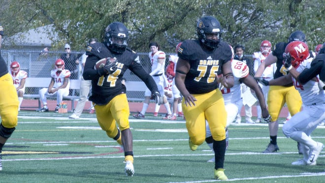 Ottawa University freshman running back Derrick Curtis leads the NAIA in rushing per game at nearly 160 yards per game. Twice he has gained more than 200 yards rushing in a game.