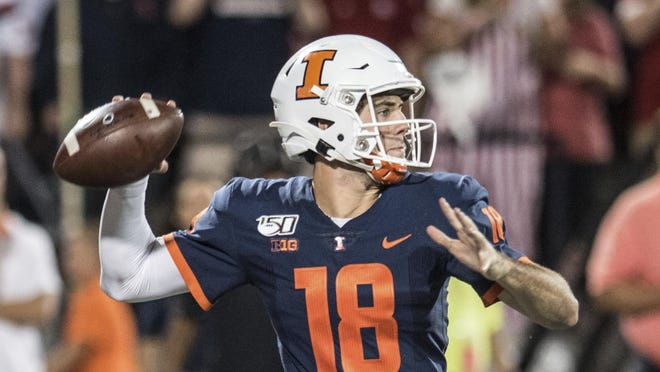 Illinois quarterback Brandon Peters and his teammates will play a Big Ten Conference-only football schedule because of COVID-19 precautions, the league office said Thursday.
