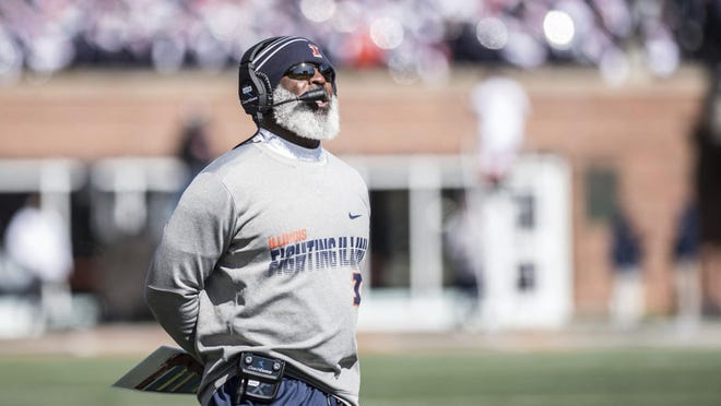 """Illinois coach Lovie Smith didn't get the news from the Big Ten Conference he wanted on Tuesday, but said he would abide by the decision. """"We're in the Big Ten Conference,"""" Smith said. """"We feel good about it and we're going to do whatever the conference says. That's our approach right now."""""""