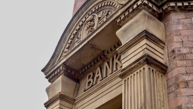 Exterior of a bank.