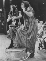Ruth and Retta Berry at the Mountain Youth Jamboree in 1971.