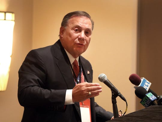 New Jersey Republican chairman Sam Raia during the delegation breakfast meeting at the Doubletree Hotel in Beachwood, OH, Tuesday July 19, 2016.