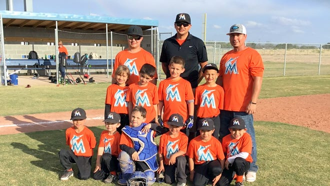 The Marlins won last Saturday's National Little League Pitching Machine Tournament PeeWee division at Bob Forrest Youth Sports Complex.