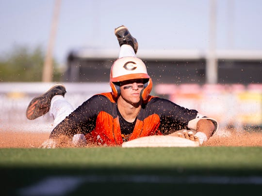 Junior infielder Hunter Haas (7) of the Corona del