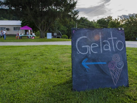 The pop-up gelato stand at Farr Farms in Richmond on